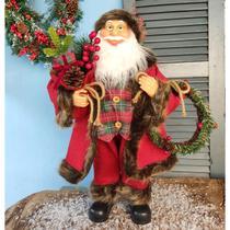 Papai Noel Decorativo 60cm com Guirlanda - Magizi