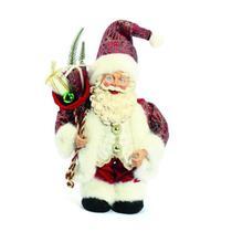 Papai Noel em Pé com Corda 35cm Música / Movimento Vermelho/Dourado - Magizi - Yangzi