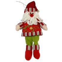 Papai Noel em Tecido Luxo 1479 30cm CBRN0142 - Commerce Brasil