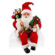 Papai Noel Luxo Sentado 41cm Vermelho Natal - Magizi - Yangzi