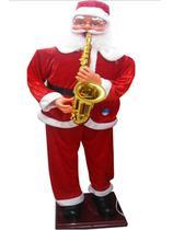 Papai noel musical dancarino com sax 110v/180cm - centro oeste - C.O