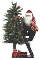 Papai Noel na escada com árvore decorada 1,06 cm - Pm
