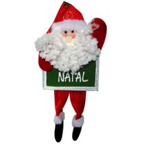 Papai Noel Placa Feliz Natal com 12cm de Largura CBRN0364 CD0067 - Commerce brasil