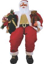 Papai Noel Sentado com urso e presentes 1,52 m - Pm