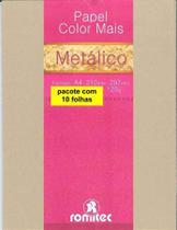 5105b7d05 Papel 120 Gramas Ouro Metálico 3285 Pacote Com 10 Folhas Romitec