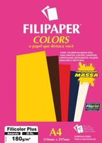 Papel A4 Color Filicolor Plus Amarelo 180G. Filipaper Cx.C/20