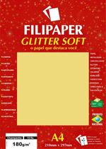 Papel A4 Color Glitter Soft Champanhe 180G. Filipaper Cx.C/15