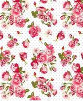 Papel Adesivo Contact Floral Flower 17 45cm X 10mt Lavavel - Plastcover