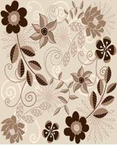 Papel Adesivo Contact Floral Flower 6 45cm X 10mt Lavavel - Plastcover