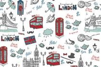 Papel Adesivo Contact Happy London 45 Cm X 10 Metros - Plastcover