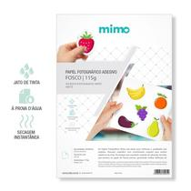 Papel Adesivo Fotografico A Prova de Agua Mimo - Fosco A4 20fls 115gr -