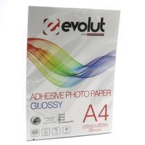 Papel Adesivo Fotográfico A4 135g Pacote c/ 20 folhas - Evolut