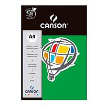 Papel Canson Color Plus 180g Verde A4 c/ 10 Folhas -