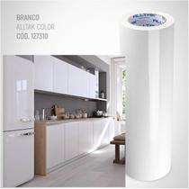 Papel Contact Vinil Adesivo Móveis BRANCO BRILHO 1MX50CM - Create Comunicação
