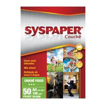 Papel Couche A4 180g S/ Brilho SP4260 Syspaper