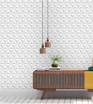 Papel de Parede 3D Tijolo em Tons de Branco e Cinza Para Salas e Quartos. - Papel E Parede Adesivos