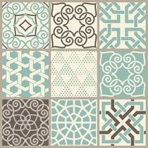Papel de Parede Adesivo Azulejo Dubai - Contact