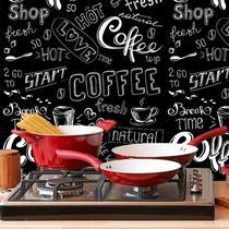 Papel De Parede Adesivo Cozinha Área Gourmet Café - N4974 - Papeldepare.De