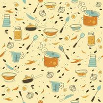 Papel de Parede Adesivo Cozinha Gourmet - Contact