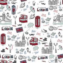 Papel de Parede Adesivo Londres - Contact