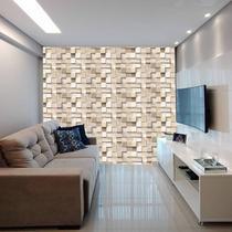 Papel De Parede Adesivo Pedra Madeira Canjiquinha 300x52cm - Lcg Eletro