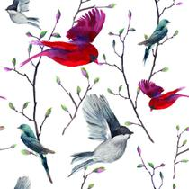 Papel de Parede Birds in Nature - Qcola