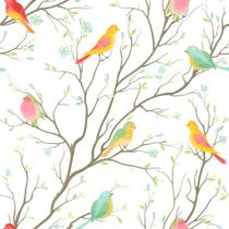 Papel de Parede Colored birds - Qcola