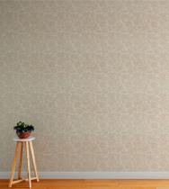 Papel De parede Com Fundo palha E Detalhes Em Bege + Kit Aplicação Completo - Papel E Parede