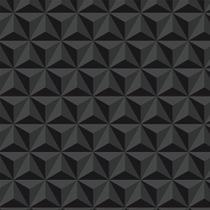 Papel De Parede Com Kit Aplicação Triângulos 3D Verde escuro Para Sala E Quarto - Papel E Parede