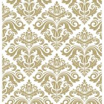 Papel de Parede Contact Decorado 45cm x 10m Arabesco Bronze Plastcover - De Casa Magazine