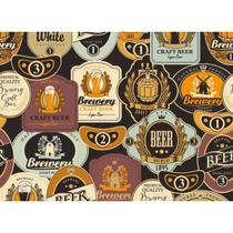 Papel de Parede Contact Decorado 45cm x 10m Craft Beer Plastcover - De Casa Magazine
