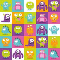 Papel de Parede Contact Decorado 45cm x 10m Monster Plastcover - De Casa Magazine