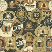Papel de Parede Decorado Contact Craft Beer 1m - Contact / Plastcover