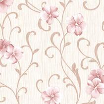 Papel de Parede Floral Adesivo Flores Rosa Lavável - N4782 - Lar Adesivos