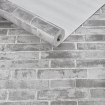 Papel de parede importado texturizado tijolinho 3d detonado - Maya Wallpaper