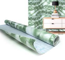 Papel de Parede Marmore Adesivo Vinilico Lavavel Decorado Verde (bsl-42079-1-F) - Braslu