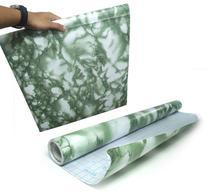 Papel de Parede Marmore Auto Adesivo Verde Vinilico Lavavel (bsl-42079-1-F) - Braslu