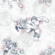 Papel de Parede Marvel Avengers Clássico DY0246 -