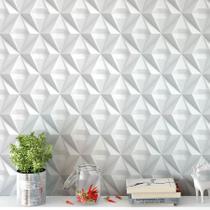 Papel De Parede Para Quarto E Sala Gesso Triangular 3D Com Efeitos De Sombras - Papel E Parede