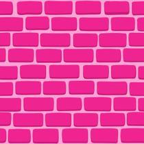 a59cce7d8a Papel de Parede Tijolos 2D Rosa - Qcola