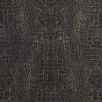 c0c2e2fdee Papel de parede vinílico Couro de cobra azul e dourado - LOFT (17956)