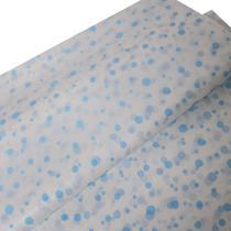 Papel De Seda Estampado 50x70 Pacote Com 50 Bolas Azul Claro e Branco - Upontocom