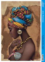 Papel Decoupage Arte Francesa Africana Colar Amarelo AF-286 31,1x21,1cm Litoarte -