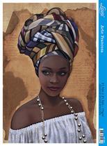 Papel Decoupage Arte Francesa Africana de Branco AF-285 31,1x21,1cm Litoarte -