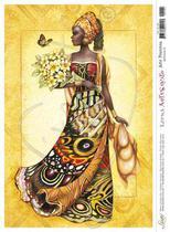 Papel Decoupage Arte Francesa Africana II AF-104 31,1x21,1cm Litoarte -