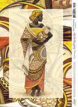 Papel Decoupage Arte Francesa Angolana AF-025 31,1x21,1cm Litoarte -