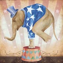 Papel Decoupage Arte Francesa Elefante de Circo II AFQ-334 - Litoarte -