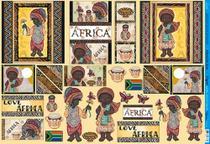 Papel Decoupage Grande África PD-863 - Litoarte -
