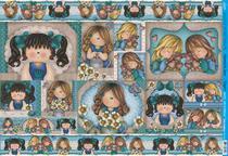 Papel Decoupage Grande Menina Love PD-612 Litoarte -
