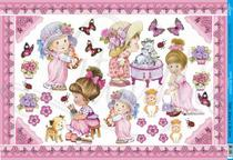 Papel Decoupage Grande Meninas PD-361 Litoarte -